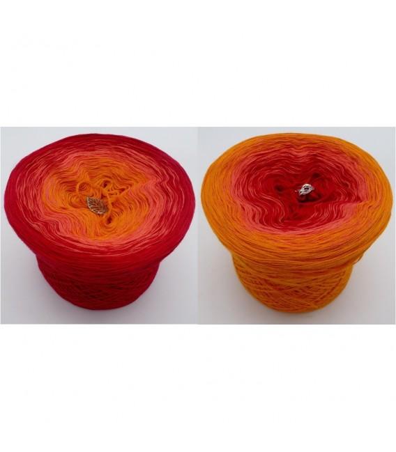 Blutorange (красного апельсина) - 3 нитевидные градиента пряжи - Фото 1