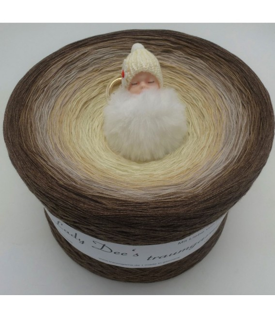 Vanille Schokoccino Gigantic Bobbel - 4 ply gradient yarn - image 1