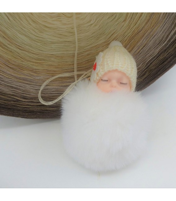 Vanille Schokoccino (Ванильное шоколадное кокино) Гигантский Bobbel - 4 нитевидные градиента пряжи - Фото 6