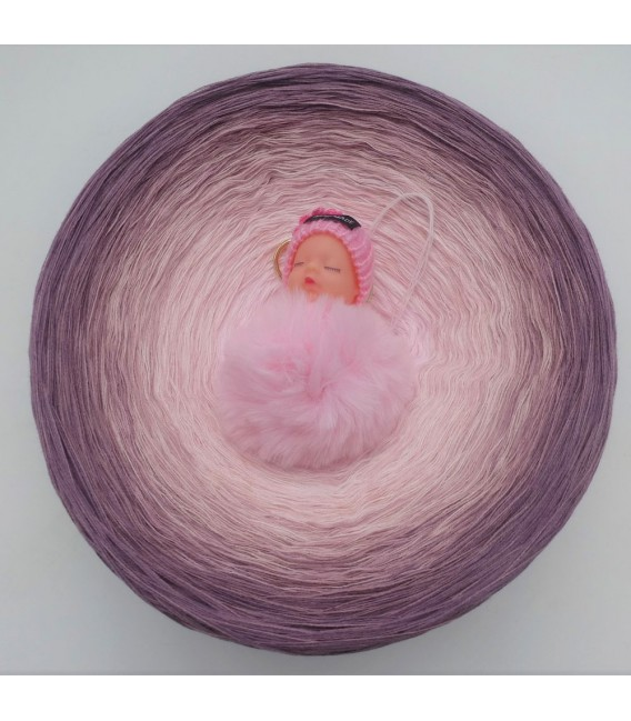 Rosenquarz (quartz de rose) Gigantesque Bobbel - 4 fils de gradient filamenteux - photo 2