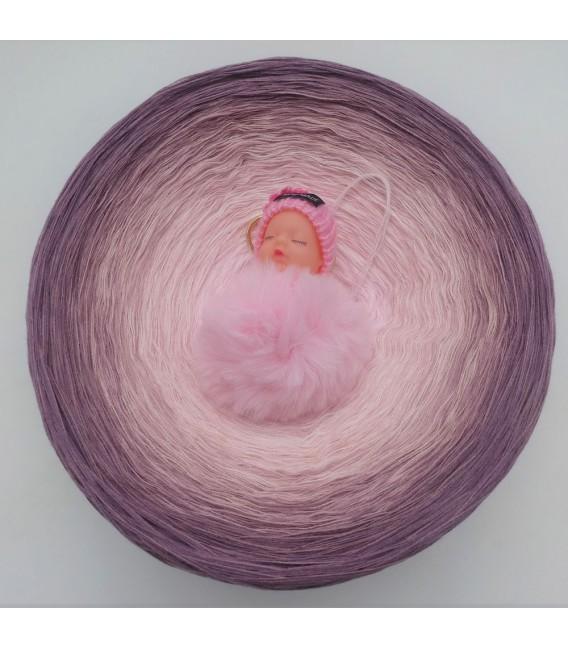 Rosenquarz (Розовый кварц) Гигантский Bobbel - 4 нитевидные градиента пряжи - Фото 2