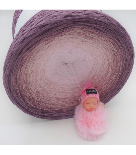 Rosenquarz (Розовый кварц) Гигантский Bobbel - 4 нитевидные градиента пряжи - Фото 4