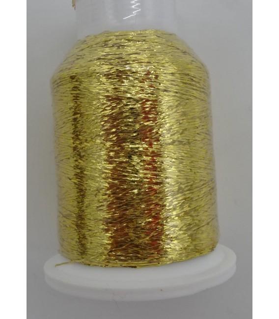 Beilaufgarn - Gold Glitzer - Minispule (fil auxiliaire - Or Glitter - Mini bobine) - photo 1