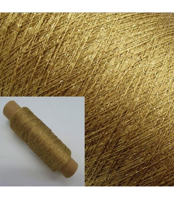 Вспомогательная пряжа - люрекс армированное золото - Фото 1