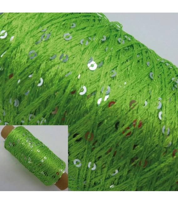 Вспомогательная пряжа - блестки пряжа Grasgrün