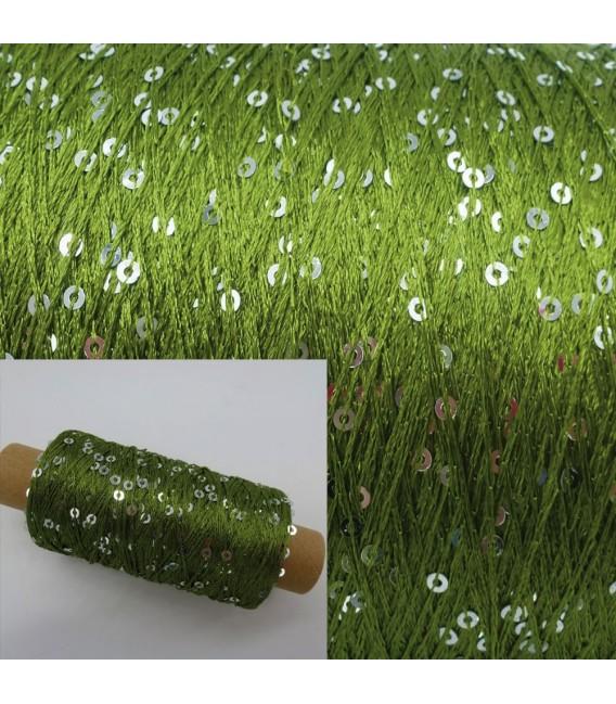 Вспомогательная пряжа - блестки пряжа папоротник зеленый - Фото 1