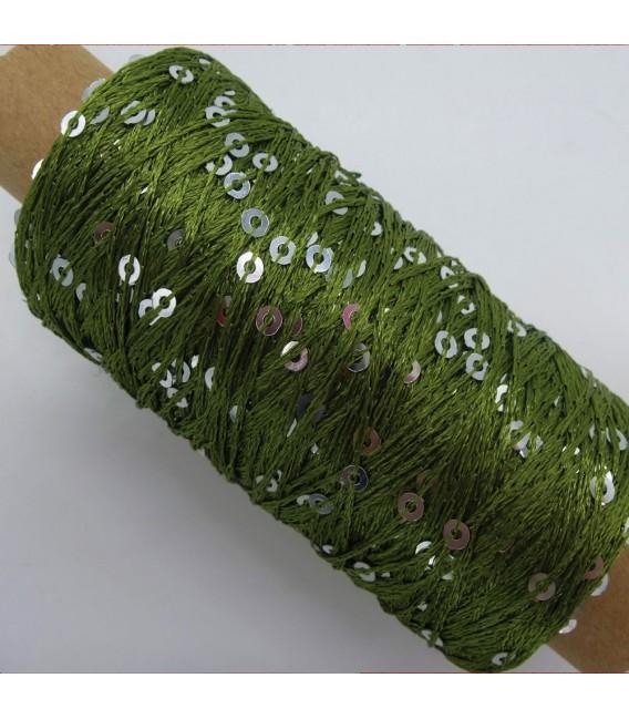 Auxiliary yarn - yarn sequins fern green - image 2