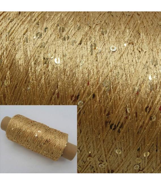Вспомогательная пряжа - блестки пряжа золото - Фото 1