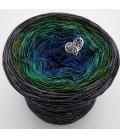 Stern von Bethlehem mit Glitzer - 4 ply gradient yarn