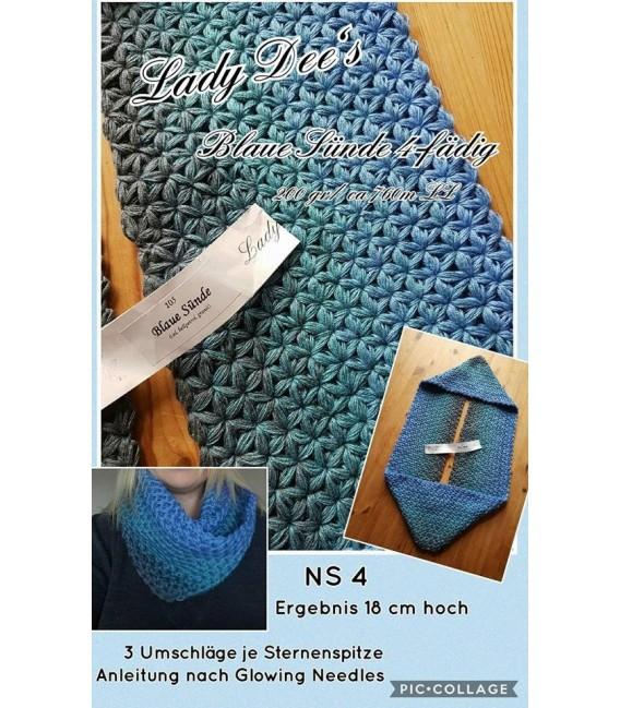 Blaue Sünde (синий грех) - 4 нитевидные градиента пряжи - Фото 10