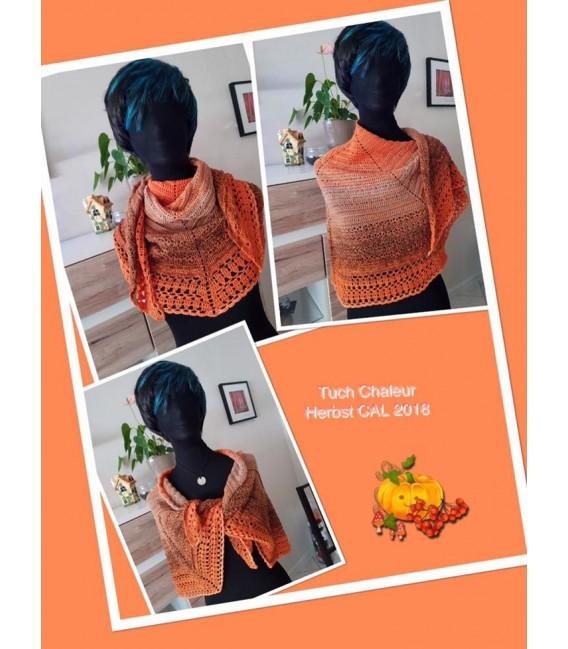"Crochet Pattern shawl ""Chaleur"" by Ursula Deppe-Krieger - image 3"
