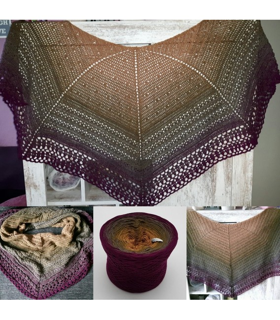 "Crochet Pattern shawl ""Chaleur"" by Ursula Deppe-Krieger - image 4"