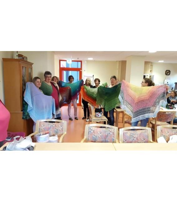 "Crochet Pattern shawl ""Chaleur"" by Ursula Deppe-Krieger - image 5"
