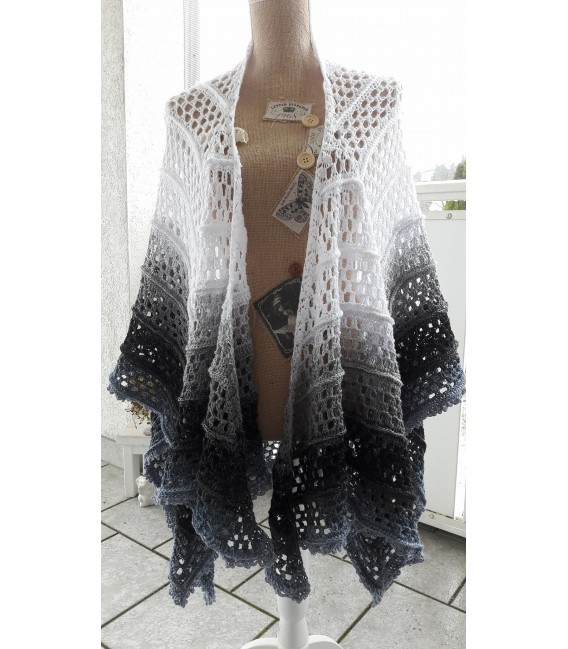 """Crochet Pattern poncho """"Silhouette"""" by Tanja Schuster - image 3"""
