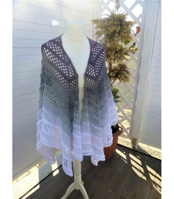"""Crochet Pattern poncho """"Silhouette"""" by Tanja Schuster - image 4"""