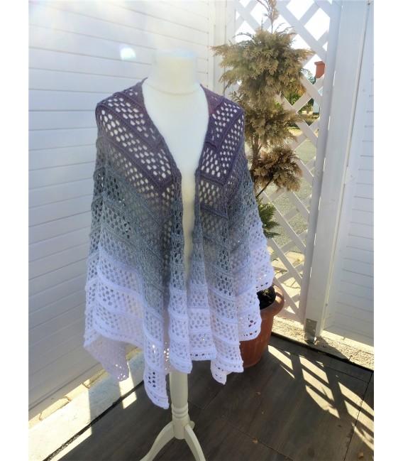 "modèle de crochet poncho ""Silhouette"" de Tanja Schuster - photo 4"