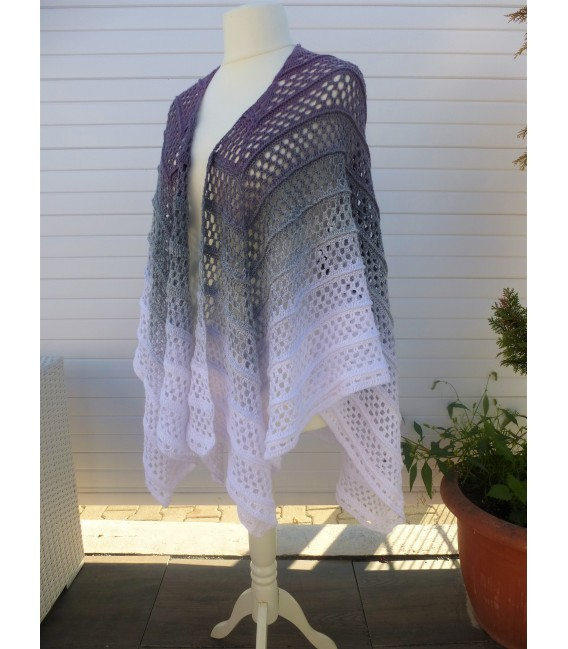 "modèle de crochet poncho ""Silhouette"" de Tanja Schuster - photo 5"