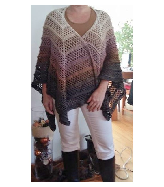 """Crochet Pattern poncho """"Silhouette"""" by Tanja Schuster - image 10"""