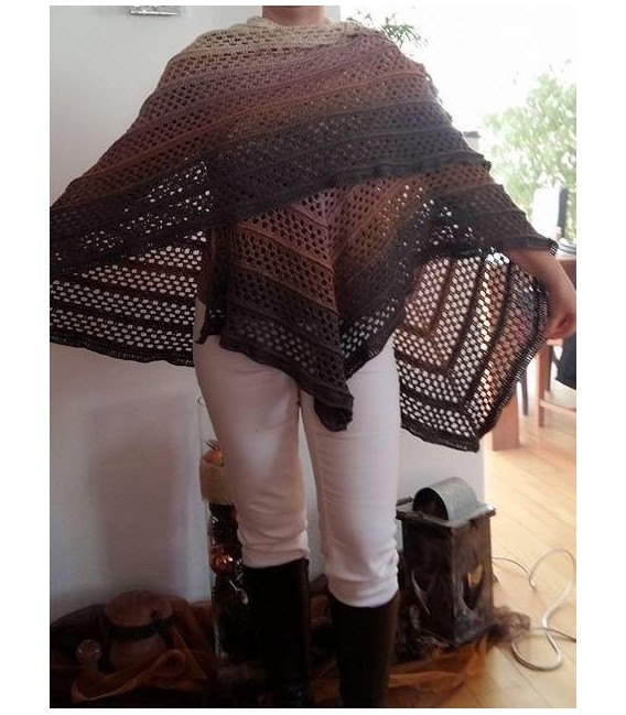 """Crochet Pattern poncho """"Silhouette"""" by Tanja Schuster - image 11"""