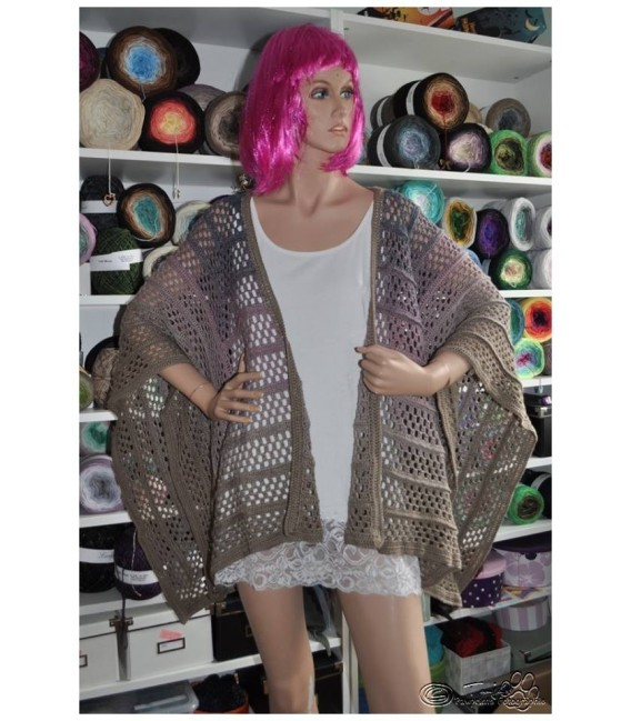 """Crochet Pattern poncho """"Silhouette"""" by Tanja Schuster - image 14"""