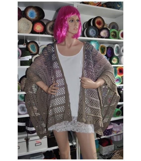 "modèle de crochet poncho ""Silhouette"" de Tanja Schuster - photo 14"