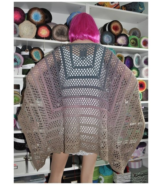 """Crochet Pattern poncho """"Silhouette"""" by Tanja Schuster - image 16"""