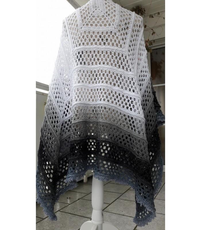 Silhouette Modele De Crochet Poncho Lady Dee S Traumgarne Export