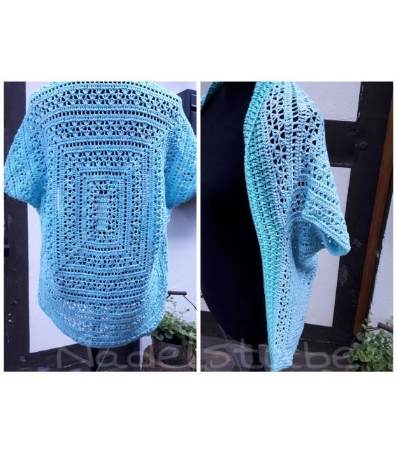 "Crochet Pattern shawl blanket Souls Warmer tunics scarf ""Summer Kiss"" by Ursula Deppe-Krieger - image 2"