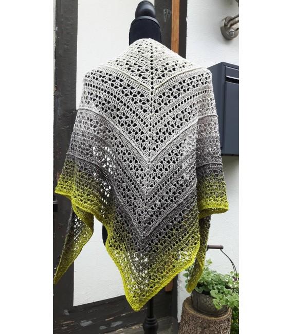 "Crochet Pattern shawl blanket Souls Warmer tunics scarf ""Summer Kiss"" by Ursula Deppe-Krieger - image 3"