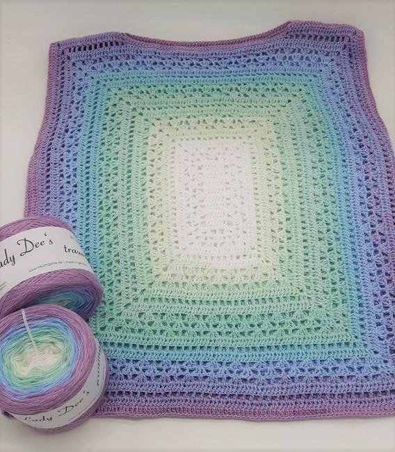 "Crochet Pattern shawl blanket Souls Warmer tunics scarf ""Summer Kiss"" by Ursula Deppe-Krieger - image 7"