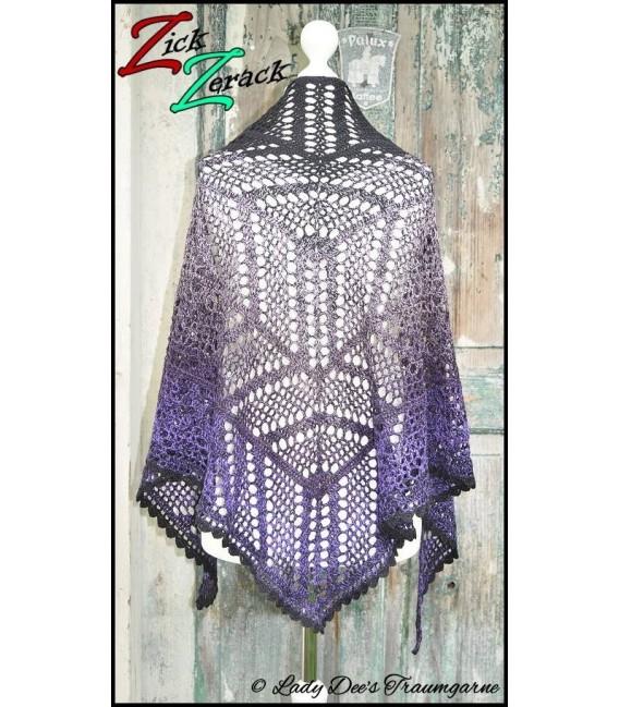 "Crochet Pattern shawl ""Zick Zerack"" by Tanja Schuster - image 1"