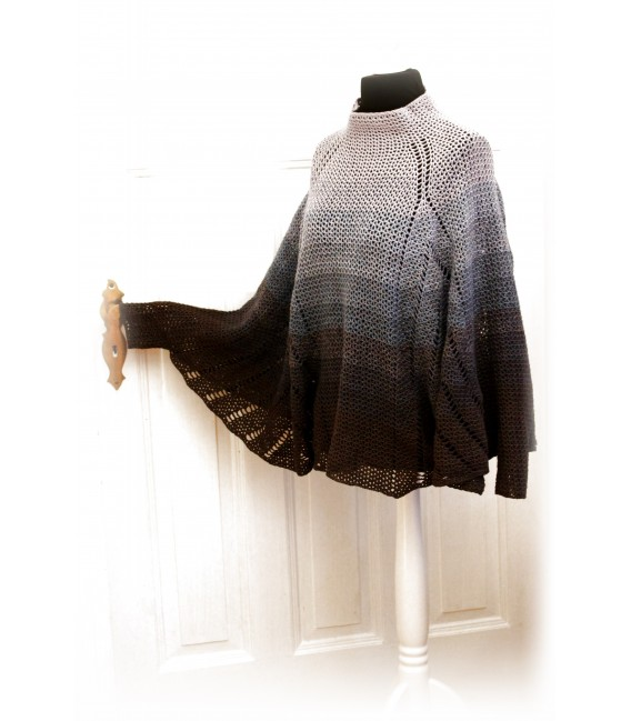 "modèle de crochet poncho ""All'n nothing"" de Maike Ohlig - photo 2"