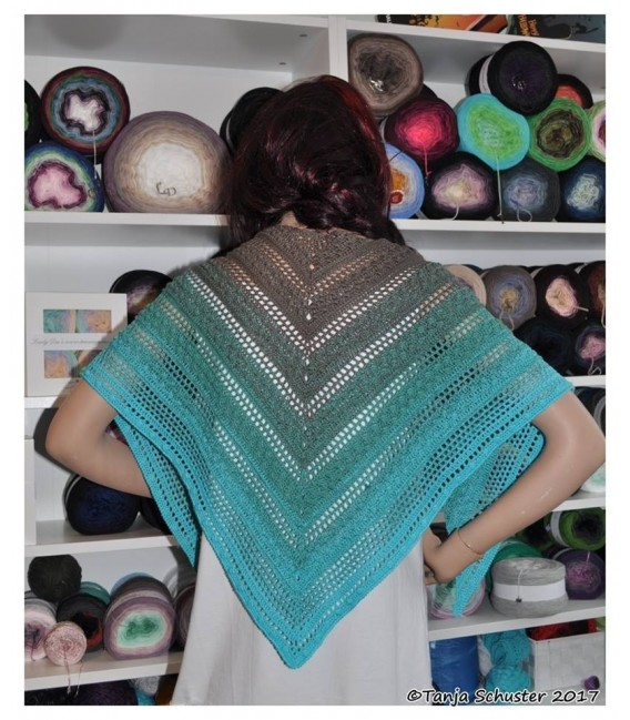 """Crochet Pattern shawl """"Cowgirl"""" by Tanja Schuster - image 2"""