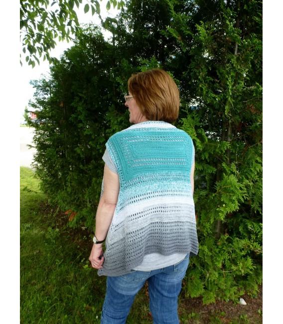 жилет - куртка «Don't Stop» Узор крючком от Ursula Deppe-Krieger - Фото 2