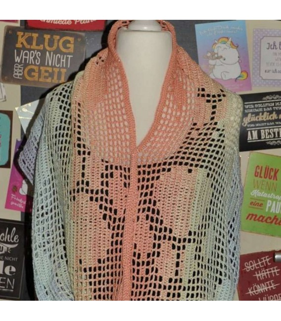 "Crochet Pattern scarf loop ""Pawprints"" by Tanja Schuster - image 1"