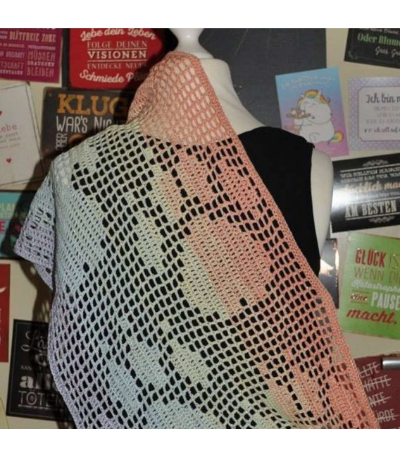 "Crochet Pattern scarf loop ""Pawprints"" by Tanja Schuster - image 2"