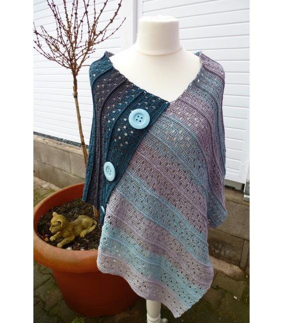"Crochet Pattern poncho ""Sommernacht"" by Ramona Pall - image 1"