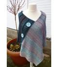 Sommernacht - crochet pattern - poncho