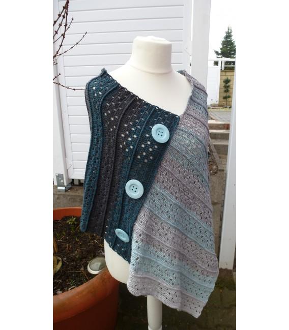 "Crochet Pattern poncho ""Sommernacht"" by Ramona Pall - image 2"