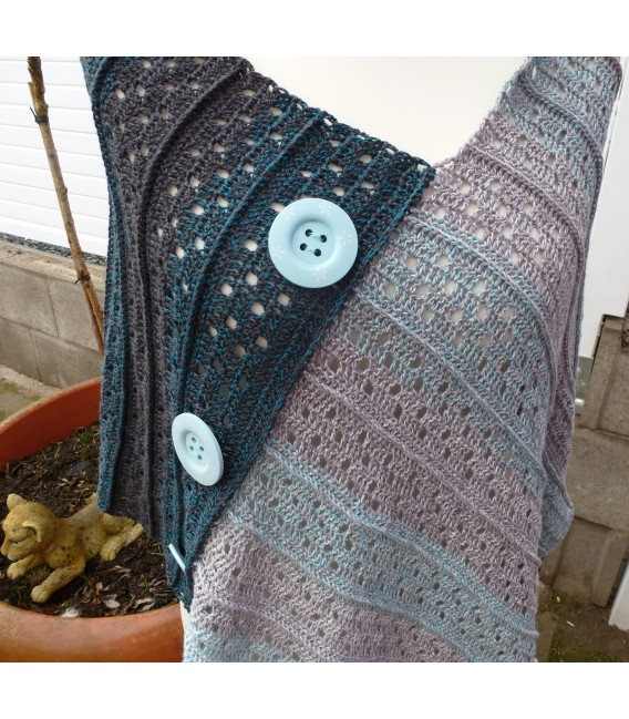 "Crochet Pattern poncho ""Sommernacht"" by Ramona Pall - image 3"