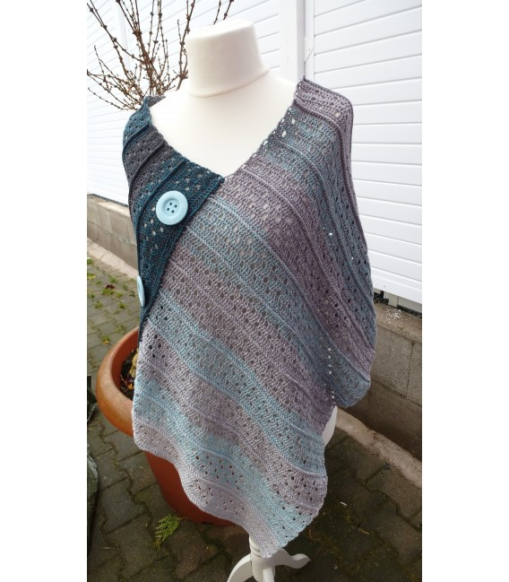 "Crochet Pattern poncho ""Sommernacht"" by Ramona Pall - image 4"