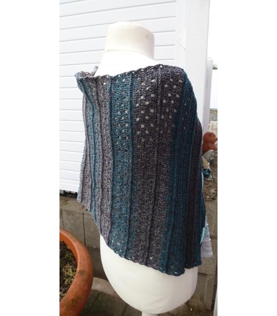 "Crochet Pattern poncho ""Sommernacht"" by Ramona Pall - image 5"