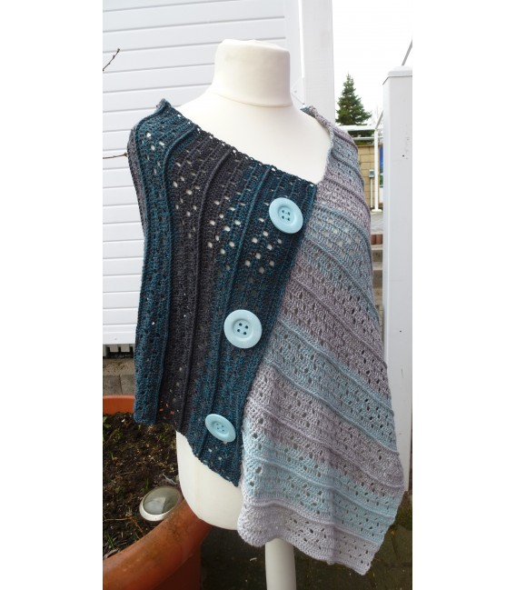 "Crochet Pattern poncho ""Sommernacht"" by Ramona Pall - image 6"