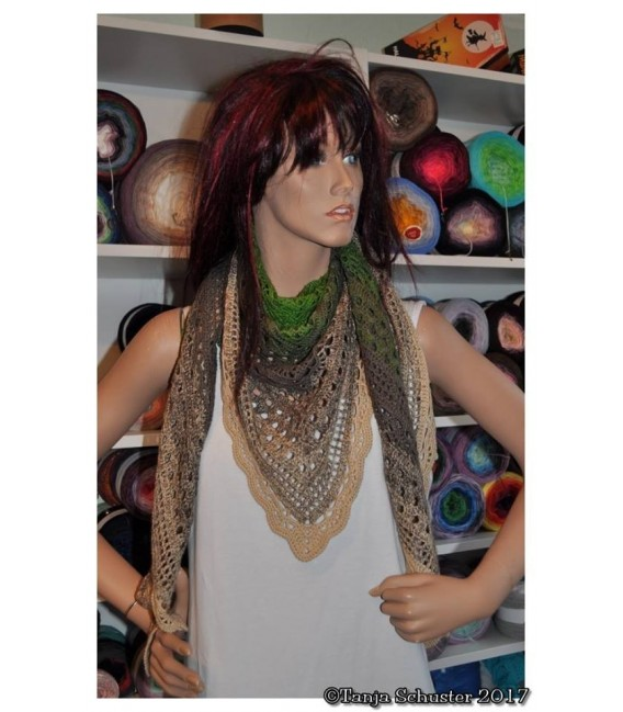 "Crochet Pattern shawl ""Weite Prärie"" by Tanja Schuster - image 1"