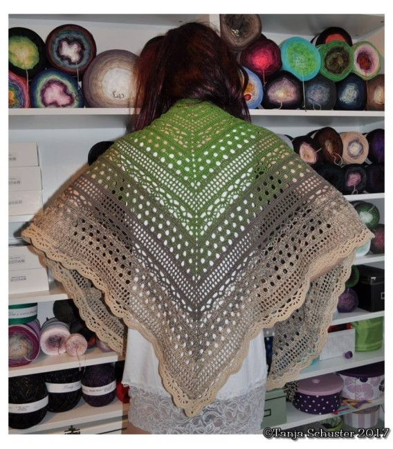 "Crochet Pattern shawl ""Weite Prärie"" by Tanja Schuster - image 2"