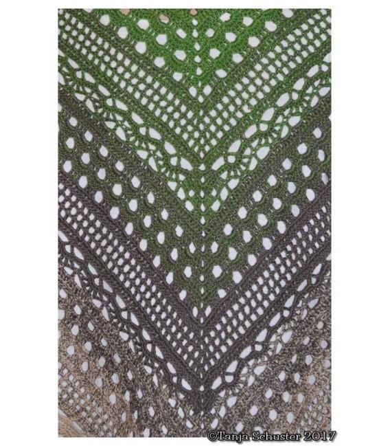 "Crochet Pattern shawl ""Weite Prärie"" by Tanja Schuster - image 3"