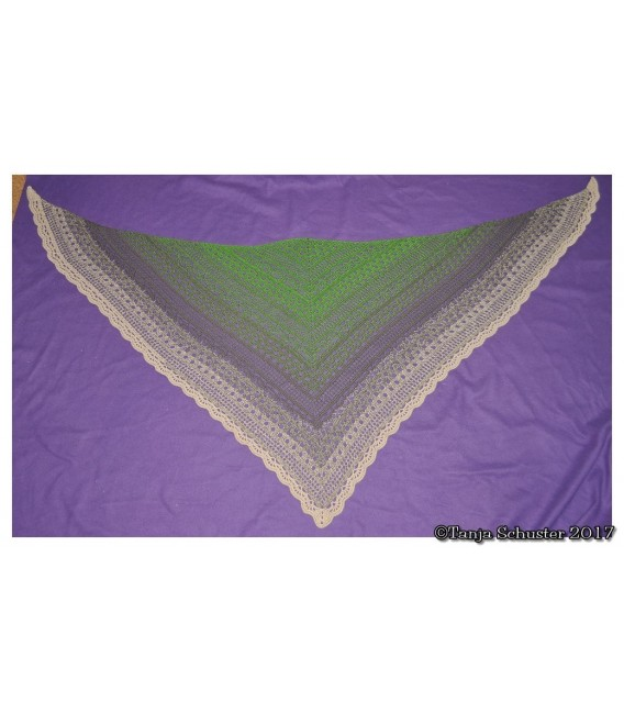 "Crochet Pattern shawl ""Weite Prärie"" by Tanja Schuster - image 4"