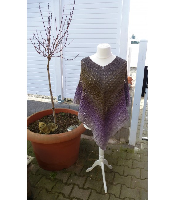 "Crochet Pattern poncho ""Wintermorgen"" by Ramona Pall - image 1"