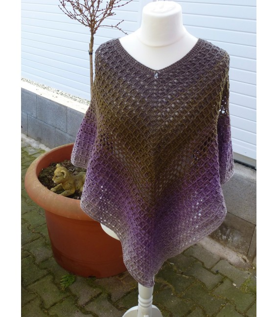"Crochet Pattern poncho ""Wintermorgen"" by Ramona Pall - image 2"
