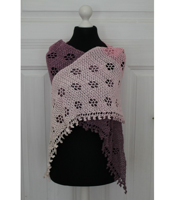 "Crochet Pattern shawl ""Blumentraum"" by Maike Ohlig - image 4"